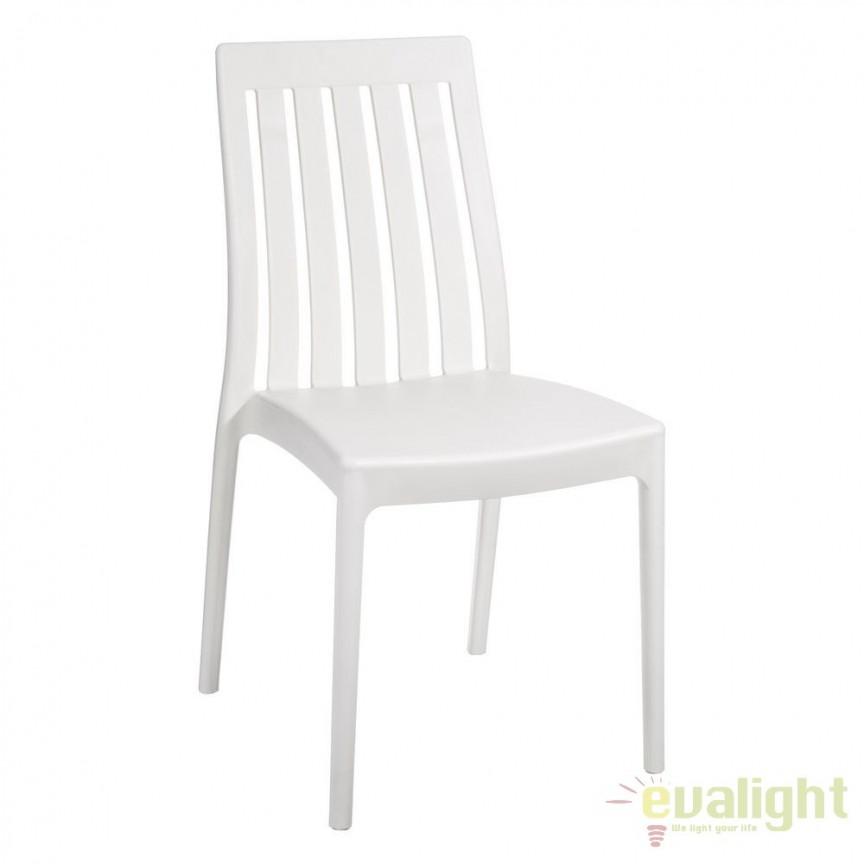 Set de 4 scaune din polipropilena Monik, alb SX-104196, Seturi scaune dining, scaune HoReCa, Corpuri de iluminat, lustre, aplice, veioze, lampadare, plafoniere. Mobilier si decoratiuni, oglinzi, scaune, fotolii. Oferte speciale iluminat interior si exterior. Livram in toata tara.  a