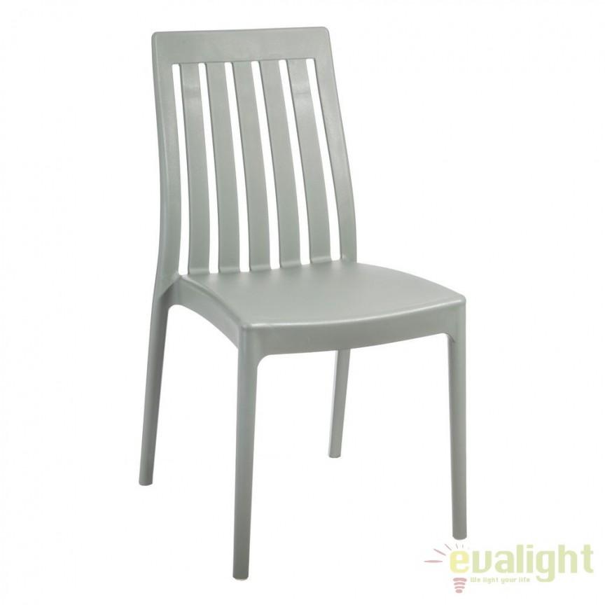 Set de 4 scaune din polipropilena Monik, gri SX-104197, Seturi scaune dining, scaune HoReCa, Corpuri de iluminat, lustre, aplice, veioze, lampadare, plafoniere. Mobilier si decoratiuni, oglinzi, scaune, fotolii. Oferte speciale iluminat interior si exterior. Livram in toata tara.  a