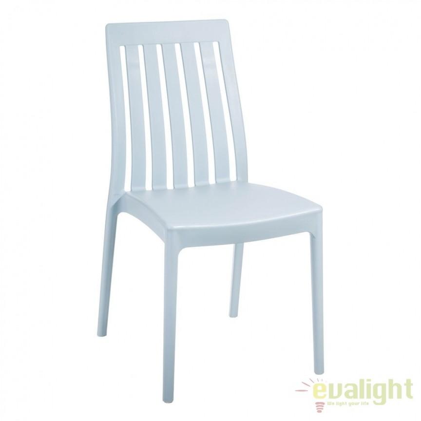 Set de 4 scaune din polipropilena Monik, albastru deschis SX-104198, Seturi scaune dining, scaune HoReCa, Corpuri de iluminat, lustre, aplice, veioze, lampadare, plafoniere. Mobilier si decoratiuni, oglinzi, scaune, fotolii. Oferte speciale iluminat interior si exterior. Livram in toata tara.  a