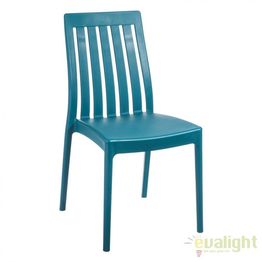 Set de 4 scaune din polipropilena Monik, albastru SX-104199, Seturi scaune dining, scaune HoReCa, Corpuri de iluminat, lustre, aplice, veioze, lampadare, plafoniere. Mobilier si decoratiuni, oglinzi, scaune, fotolii. Oferte speciale iluminat interior si exterior. Livram in toata tara.  a