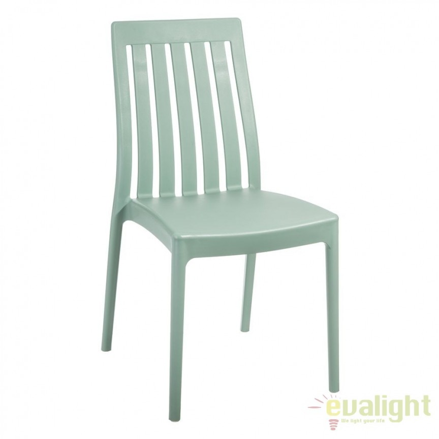 Set de 4 scaune din polipropilena Monik, verde SX-104200, Seturi scaune dining, scaune HoReCa, Corpuri de iluminat, lustre, aplice, veioze, lampadare, plafoniere. Mobilier si decoratiuni, oglinzi, scaune, fotolii. Oferte speciale iluminat interior si exterior. Livram in toata tara.  a