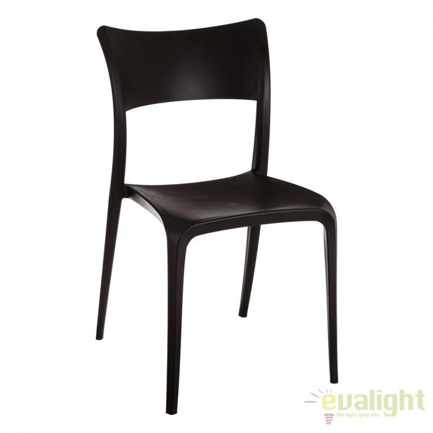 Set de 2 scaune din polipropilena Monika, negru SX-105451, Seturi scaune dining, scaune HoReCa, Corpuri de iluminat, lustre, aplice, veioze, lampadare, plafoniere. Mobilier si decoratiuni, oglinzi, scaune, fotolii. Oferte speciale iluminat interior si exterior. Livram in toata tara.  a