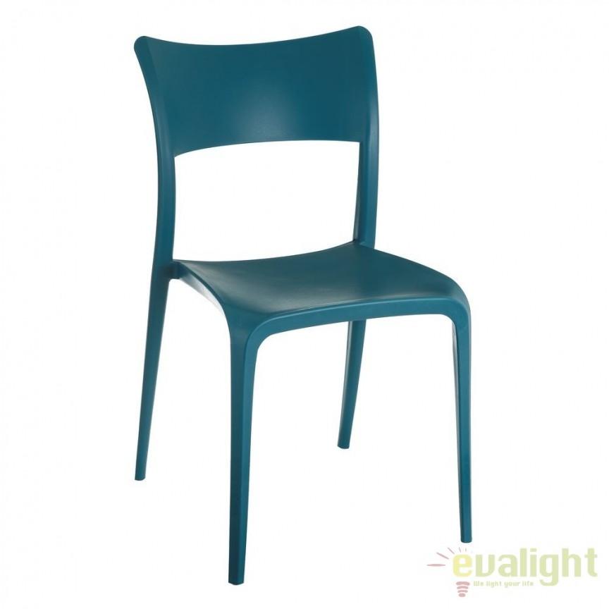 Set de 2 scaune din polipropilena Monika, albastru SX-105452, Seturi scaune dining, scaune HoReCa, Corpuri de iluminat, lustre, aplice, veioze, lampadare, plafoniere. Mobilier si decoratiuni, oglinzi, scaune, fotolii. Oferte speciale iluminat interior si exterior. Livram in toata tara.  a