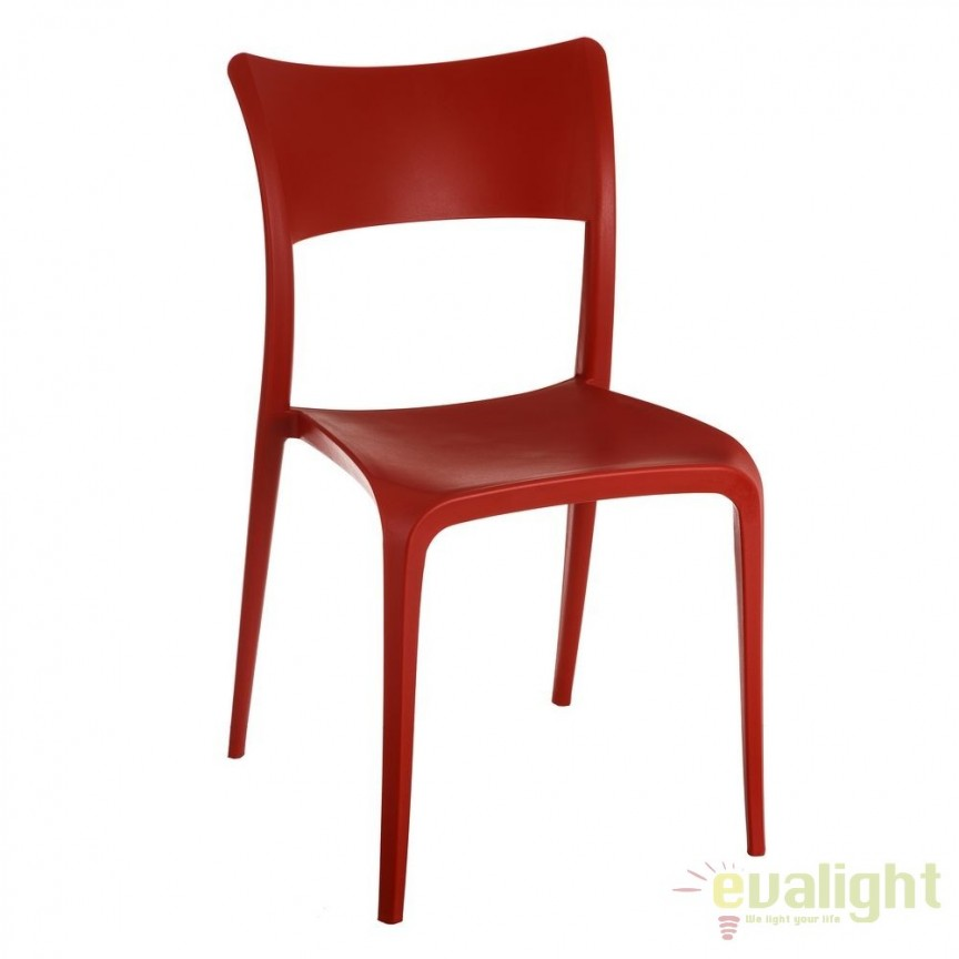 Set de 2 scaune din polipropilena Monika, rosu SX-105453, Seturi scaune dining, scaune HoReCa, Corpuri de iluminat, lustre, aplice, veioze, lampadare, plafoniere. Mobilier si decoratiuni, oglinzi, scaune, fotolii. Oferte speciale iluminat interior si exterior. Livram in toata tara.  a
