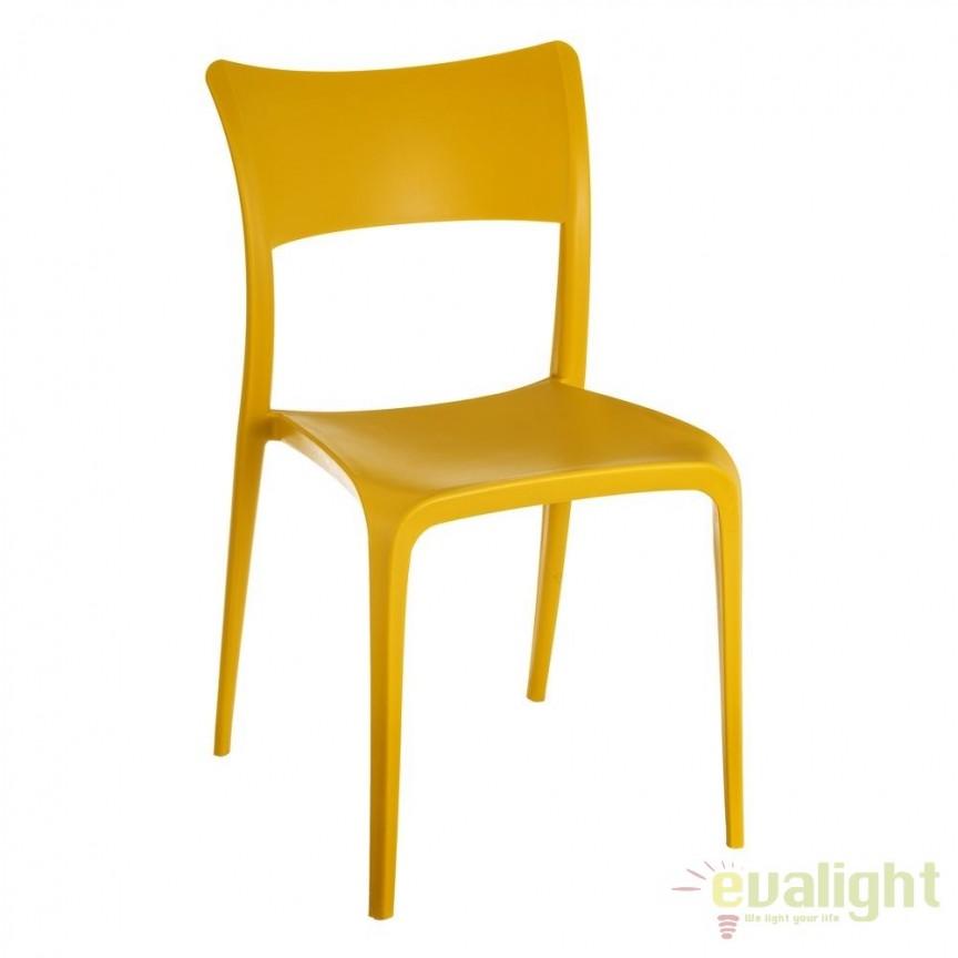 Set de 2 scaune din polipropilena Monika, galben SX-105454, Seturi scaune dining, scaune HoReCa, Corpuri de iluminat, lustre, aplice, veioze, lampadare, plafoniere. Mobilier si decoratiuni, oglinzi, scaune, fotolii. Oferte speciale iluminat interior si exterior. Livram in toata tara.  a