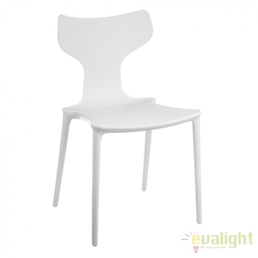 Set de 2 scaune din polipropilena Monica, alb SX-105455, Seturi scaune dining, scaune HoReCa, Corpuri de iluminat, lustre, aplice, veioze, lampadare, plafoniere. Mobilier si decoratiuni, oglinzi, scaune, fotolii. Oferte speciale iluminat interior si exterior. Livram in toata tara.  a