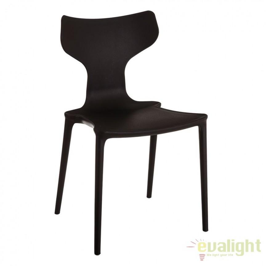 Set de 2 scaune din polipropilena Monica, negru SX-105456, Seturi scaune dining, scaune HoReCa, Corpuri de iluminat, lustre, aplice, veioze, lampadare, plafoniere. Mobilier si decoratiuni, oglinzi, scaune, fotolii. Oferte speciale iluminat interior si exterior. Livram in toata tara.  a