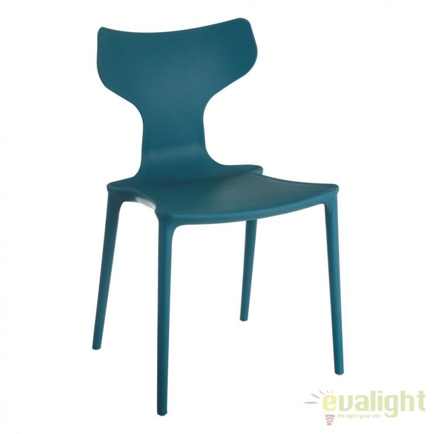 Set de 2 scaune din polipropilena Monica, albastru SX-105457, Seturi scaune dining, scaune HoReCa, Corpuri de iluminat, lustre, aplice, veioze, lampadare, plafoniere. Mobilier si decoratiuni, oglinzi, scaune, fotolii. Oferte speciale iluminat interior si exterior. Livram in toata tara.  a