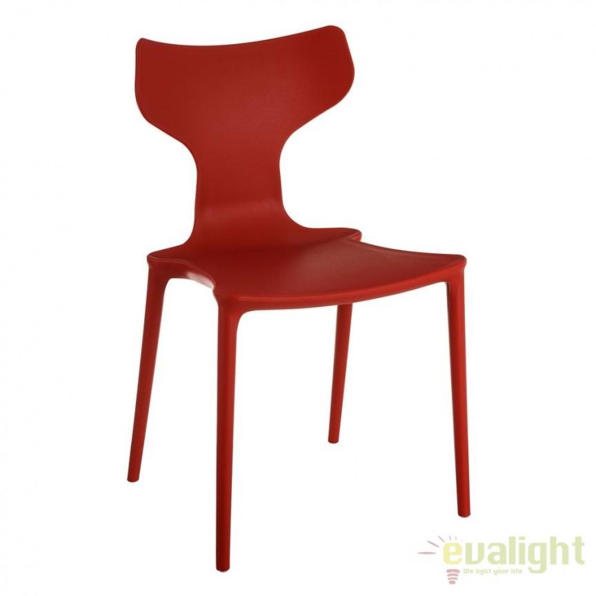 Set de 2 scaune din polipropilena Monica, rosu SX-105458, Seturi scaune dining, scaune HoReCa, Corpuri de iluminat, lustre, aplice, veioze, lampadare, plafoniere. Mobilier si decoratiuni, oglinzi, scaune, fotolii. Oferte speciale iluminat interior si exterior. Livram in toata tara.  a