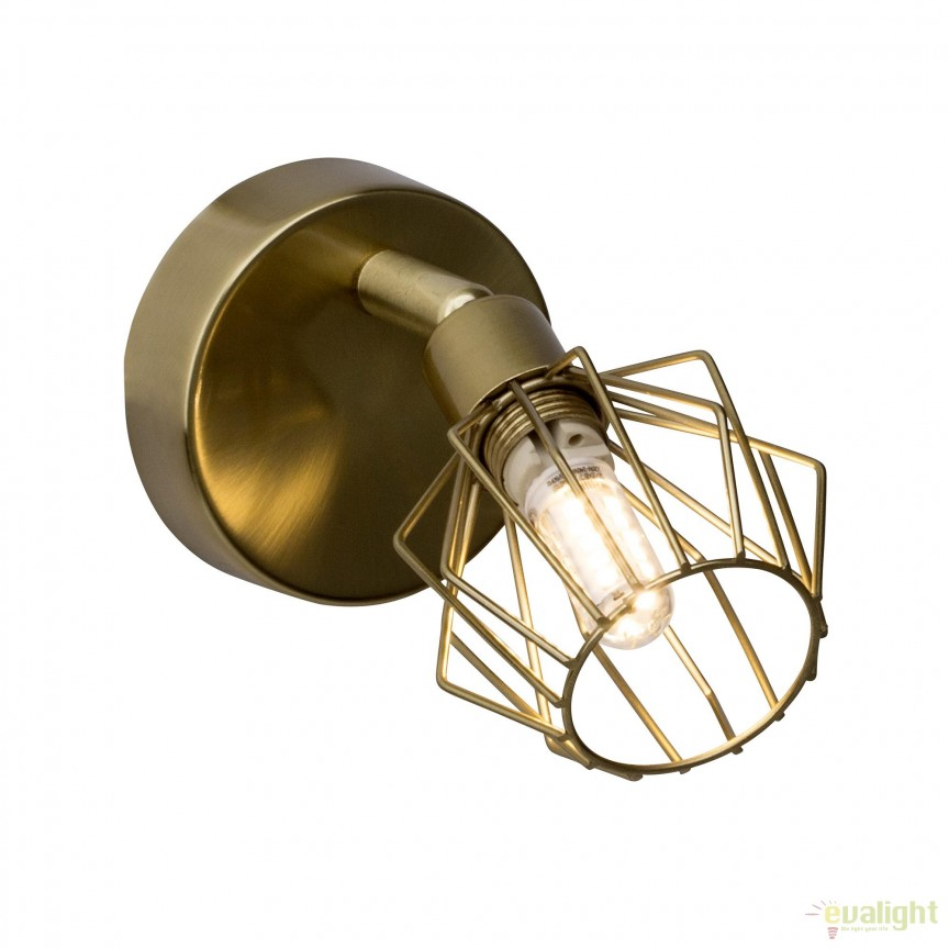 Aplica perete LED design retro NORIS alama antic G54110/31 BL, Spoturi - iluminat - cu 1 spot, Corpuri de iluminat, lustre, aplice, veioze, lampadare, plafoniere. Mobilier si decoratiuni, oglinzi, scaune, fotolii. Oferte speciale iluminat interior si exterior. Livram in toata tara.  a