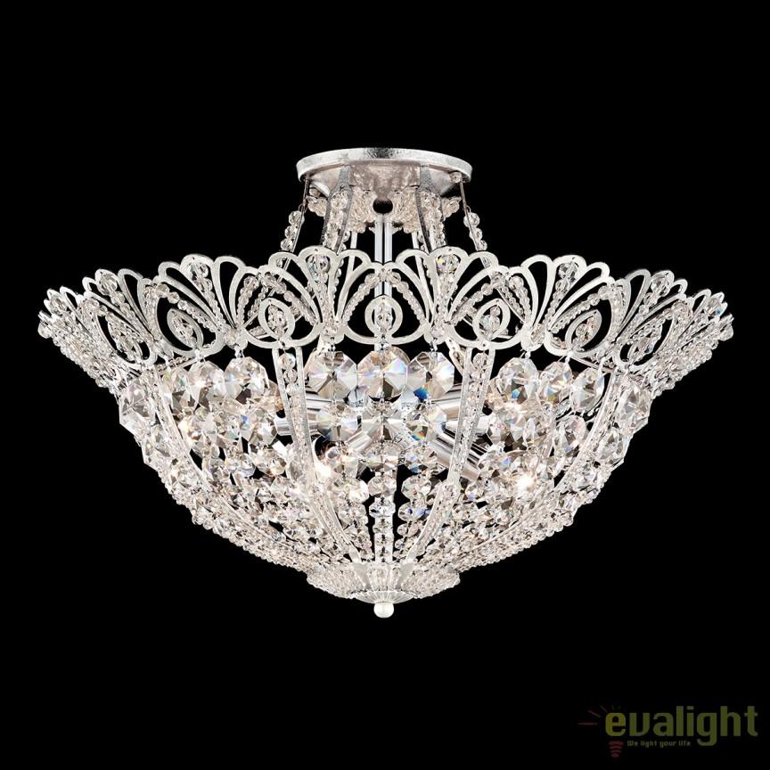 Plafoniera eleganta design LUX Crystal Spectra, diametru 51cm, Tiara 9843, Plafoniere Cristal Schonbek , Corpuri de iluminat, lustre, aplice, veioze, lampadare, plafoniere. Mobilier si decoratiuni, oglinzi, scaune, fotolii. Oferte speciale iluminat interior si exterior. Livram in toata tara.  a