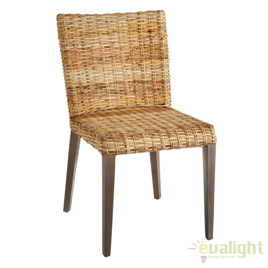 Set de 2 scaune design rustic Rattan, NATURAL SX-105559, Seturi scaune dining, scaune HoReCa, Corpuri de iluminat, lustre, aplice, veioze, lampadare, plafoniere. Mobilier si decoratiuni, oglinzi, scaune, fotolii. Oferte speciale iluminat interior si exterior. Livram in toata tara.  a