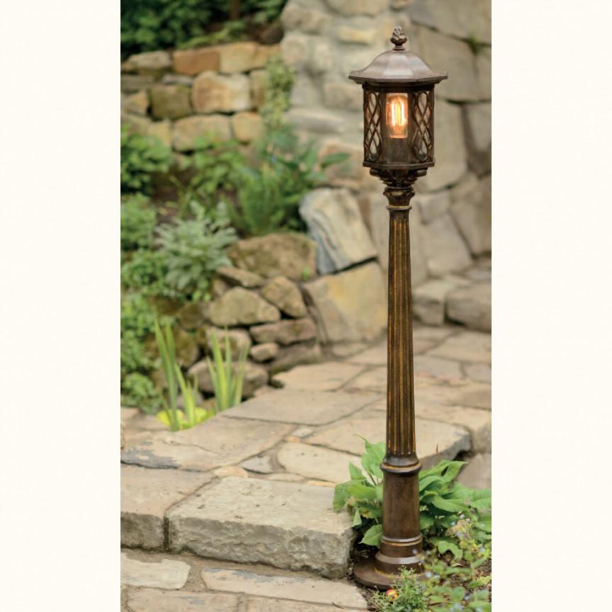 Stalp iluminat exterior din fier forjat, inaltime 146,9cm, AL 6881, Stalpi Fier Forjat,  a