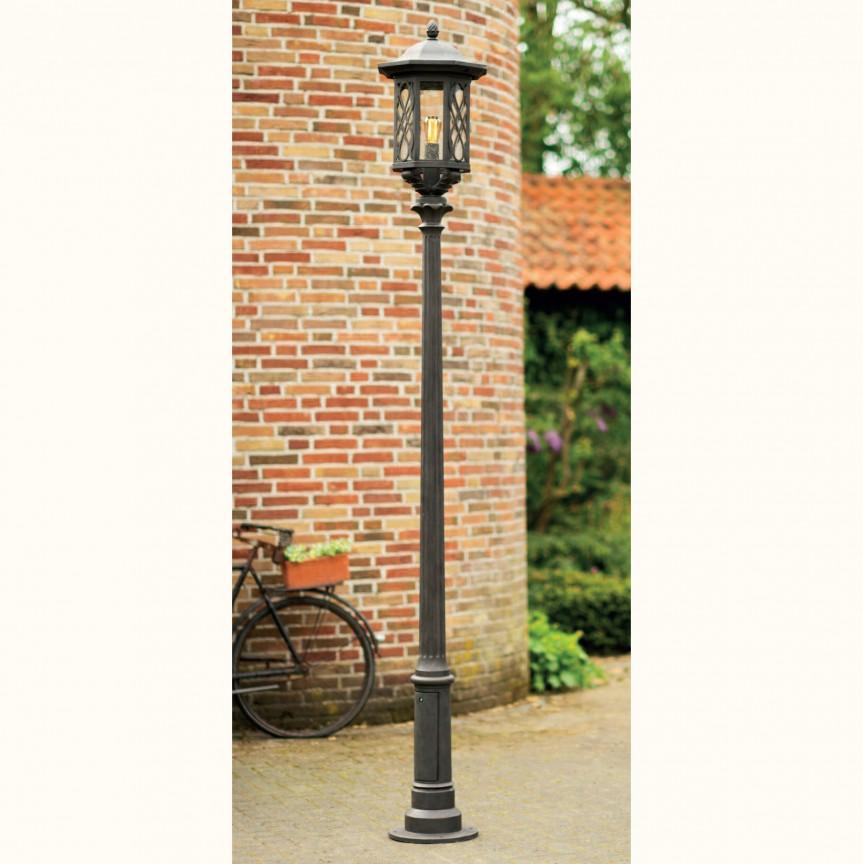 Stalp iluminat exterior din fier forjat, inaltime 266,3cm, AL 6882, Stalpi Fier Forjat,  a