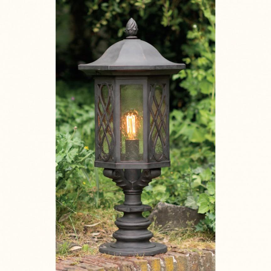 Stalp iluminat exterior din fier forjat, inaltime 88,5cm, AL 6723, Stalpi Fier Forjat,  a