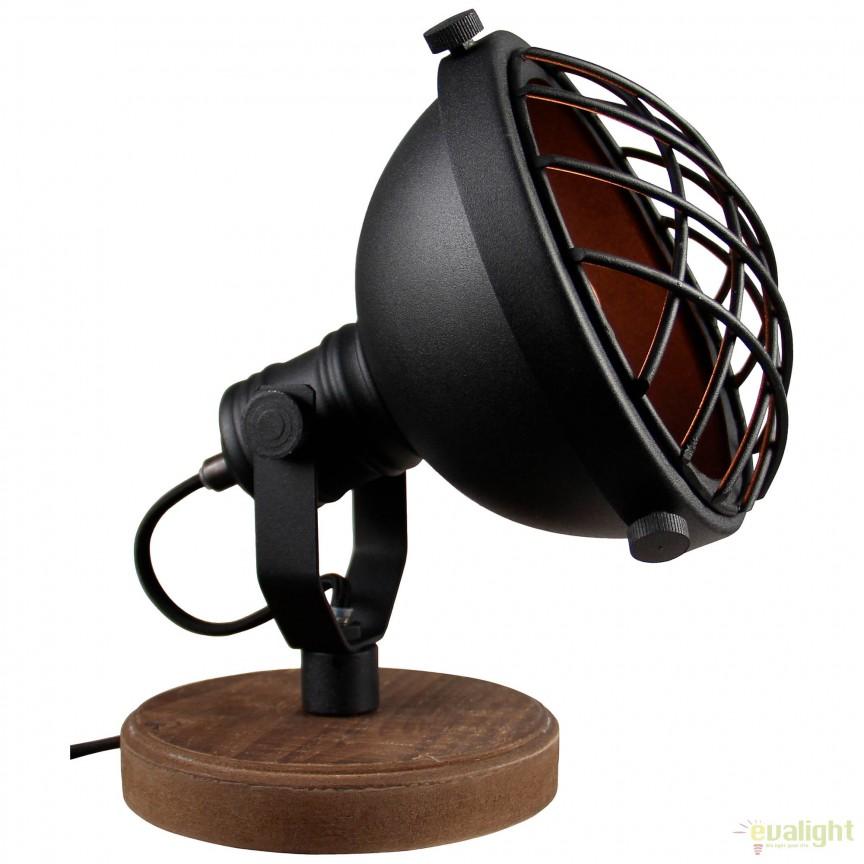 Veioza / Lampa de masa design Industrial Mila 99006/86 BL, Veioze, Corpuri de iluminat, lustre, aplice, veioze, lampadare, plafoniere. Mobilier si decoratiuni, oglinzi, scaune, fotolii. Oferte speciale iluminat interior si exterior. Livram in toata tara.  a