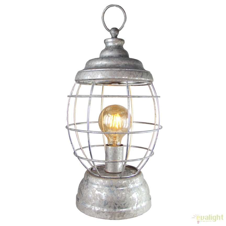 Veioza / Lampa de masa design retro-industrial Carriage 99017/43 BL, NOU ! Lustre VINTAGE, RETRO, INDUSTRIA Style,  a