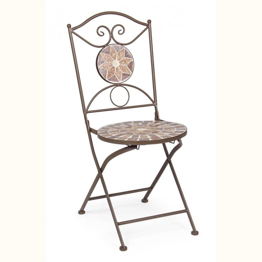 Set de 2 scaune pliante pentru exterior ALESHA 0802272 BZ, Seturi scaune dining, scaune HoReCa, Corpuri de iluminat, lustre, aplice, veioze, lampadare, plafoniere. Mobilier si decoratiuni, oglinzi, scaune, fotolii. Oferte speciale iluminat interior si exterior. Livram in toata tara.  a