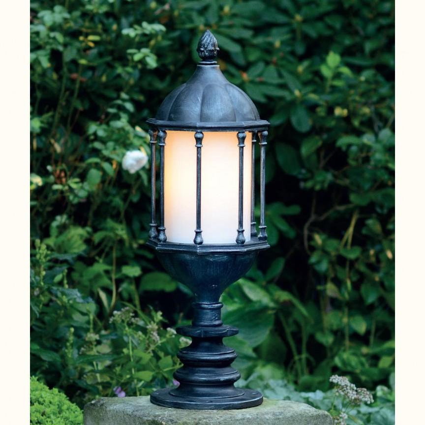 Stalp iluminat exterior din fier forjat, inaltime 83cm, AL 6591, Stalpi Fier Forjat,  a