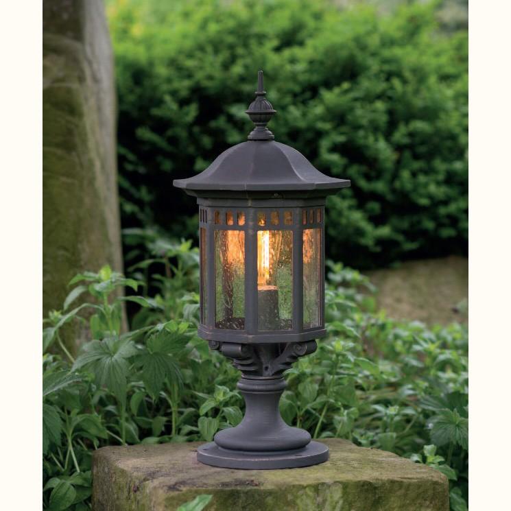 Stalp iluminat exterior din fier forjat, inaltime 58,1cm, AL 6883, Stalpi Fier Forjat,  a
