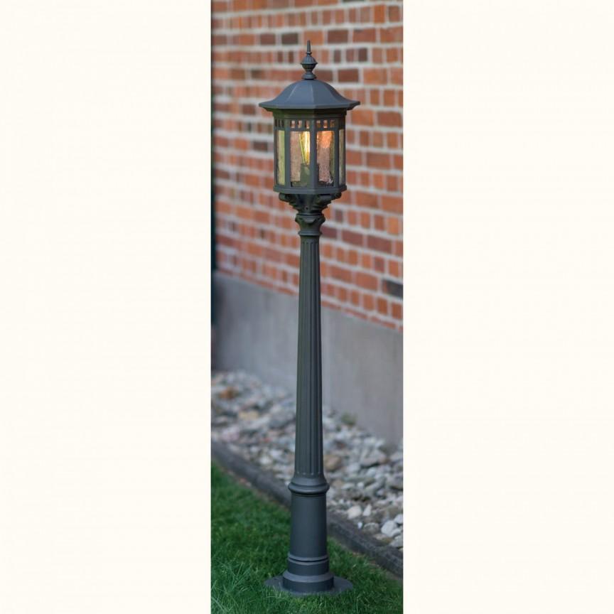 Stalp iluminat exterior din fier forjat, inaltime 151,6cm, AL 6884, Stalpi Fier Forjat,  a