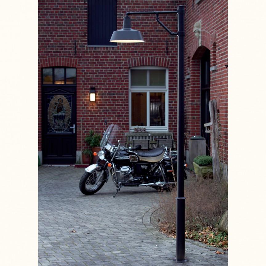 Stalp iluminat exterior design industrial, din fier forjat AL 6778-N, Stalpi Fier Forjat,  a