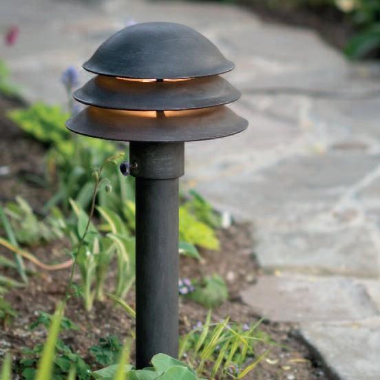 Stalp iluminat exterior din fier forjat, inaltime 60cm, AL 6610, Stalpi Fier Forjat,  a