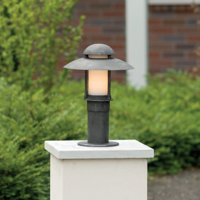Stalp iluminat exterior din fier forjat, inaltime 50cm, AL 6523, Stalpi Fier Forjat,  a