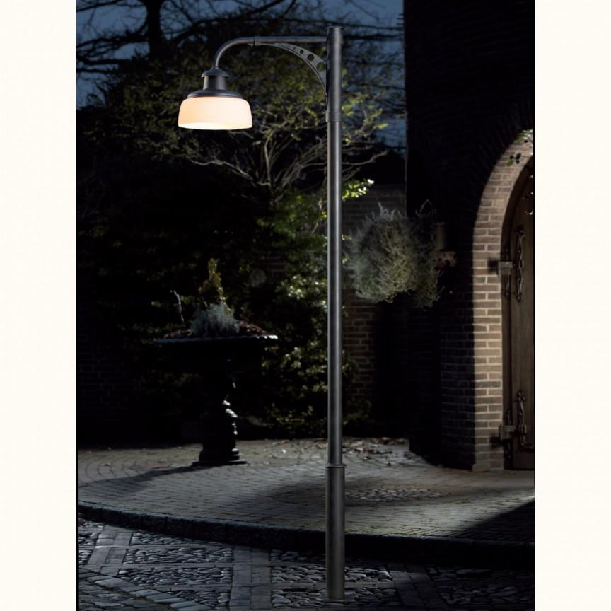 Stalp iluminat exterior din fier forjat, inaltime 302cm, AL 6831, Lustre Exterior Fier Forjat , Corpuri de iluminat, lustre, aplice, veioze, lampadare, plafoniere. Mobilier si decoratiuni, oglinzi, scaune, fotolii. Oferte speciale iluminat interior si exterior. Livram in toata tara.  a