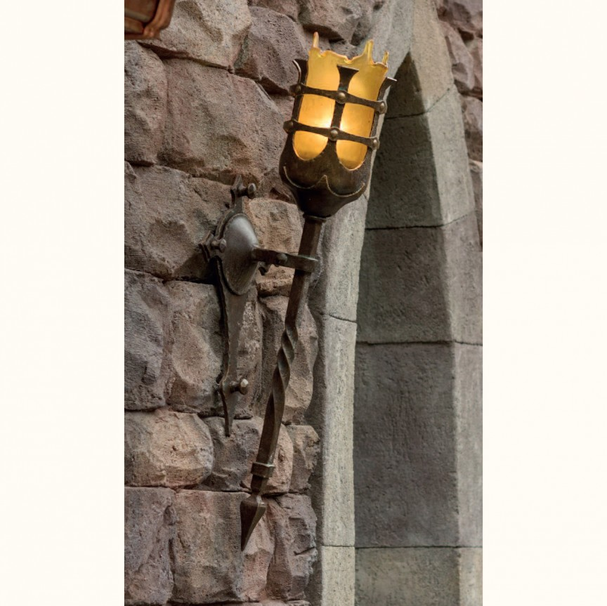 Aplica/ Torta din fier forjat iluminat exterior in stil gotic WL 3478-A, ILUMINAT FIER FORJAT DE LUX , Corpuri de iluminat, lustre, aplice, veioze, lampadare, plafoniere. Mobilier si decoratiuni, oglinzi, scaune, fotolii. Oferte speciale iluminat interior si exterior. Livram in toata tara.  a