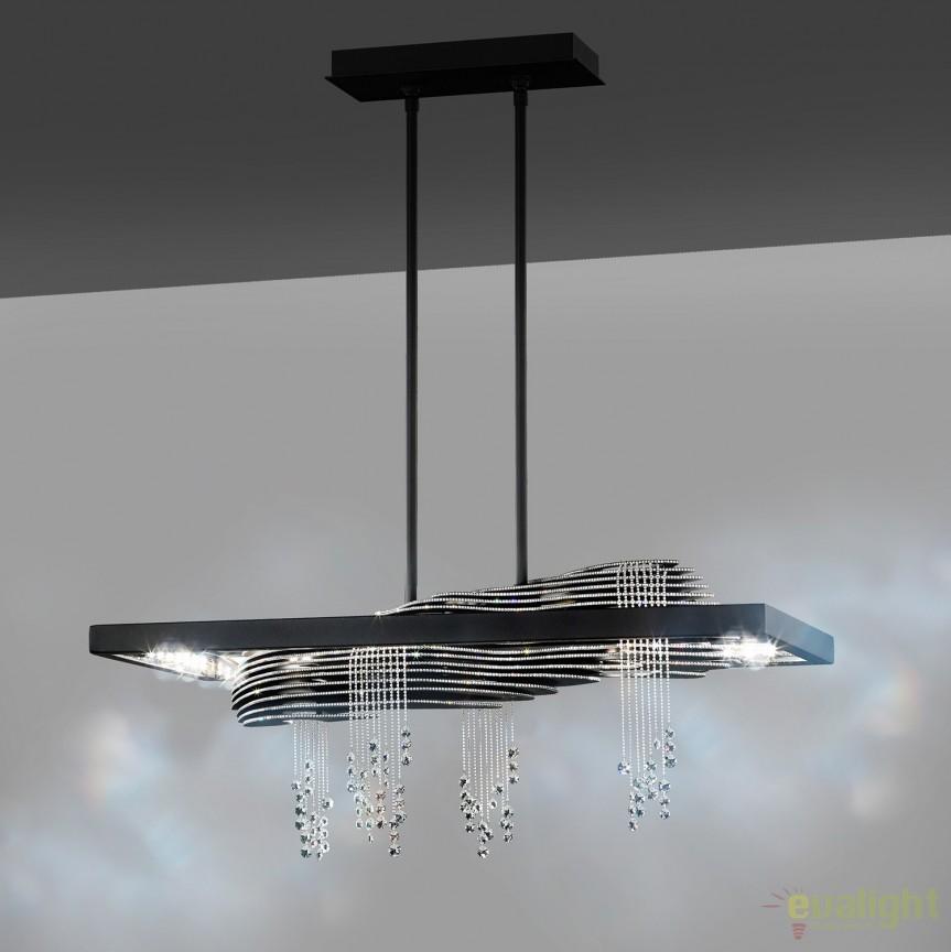 Lustra eleganta design LUX cristal Swarovski, LED Sevetti STA500, Lustre Cristal Swarovski , Corpuri de iluminat, lustre, aplice, veioze, lampadare, plafoniere. Mobilier si decoratiuni, oglinzi, scaune, fotolii. Oferte speciale iluminat interior si exterior. Livram in toata tara.  a