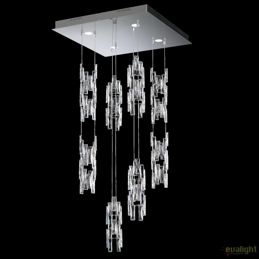 Lustra design LUX cristal Swarovski, LED Turns TUR410, Lustre Cristal Swarovski , Corpuri de iluminat, lustre, aplice, veioze, lampadare, plafoniere. Mobilier si decoratiuni, oglinzi, scaune, fotolii. Oferte speciale iluminat interior si exterior. Livram in toata tara.  a