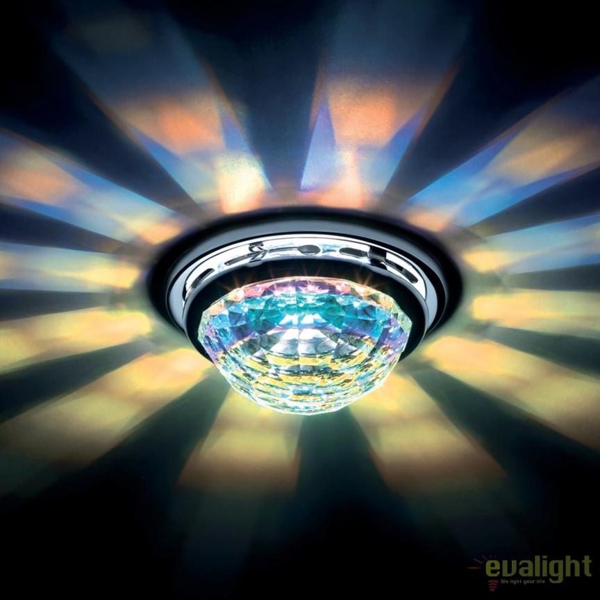 Spot incastrabil design LUX cristal Swarovski Aurora Borealis Vega SVA405, Spoturi tavan fals Cristal, Corpuri de iluminat, lustre, aplice, veioze, lampadare, plafoniere. Mobilier si decoratiuni, oglinzi, scaune, fotolii. Oferte speciale iluminat interior si exterior. Livram in toata tara.  a