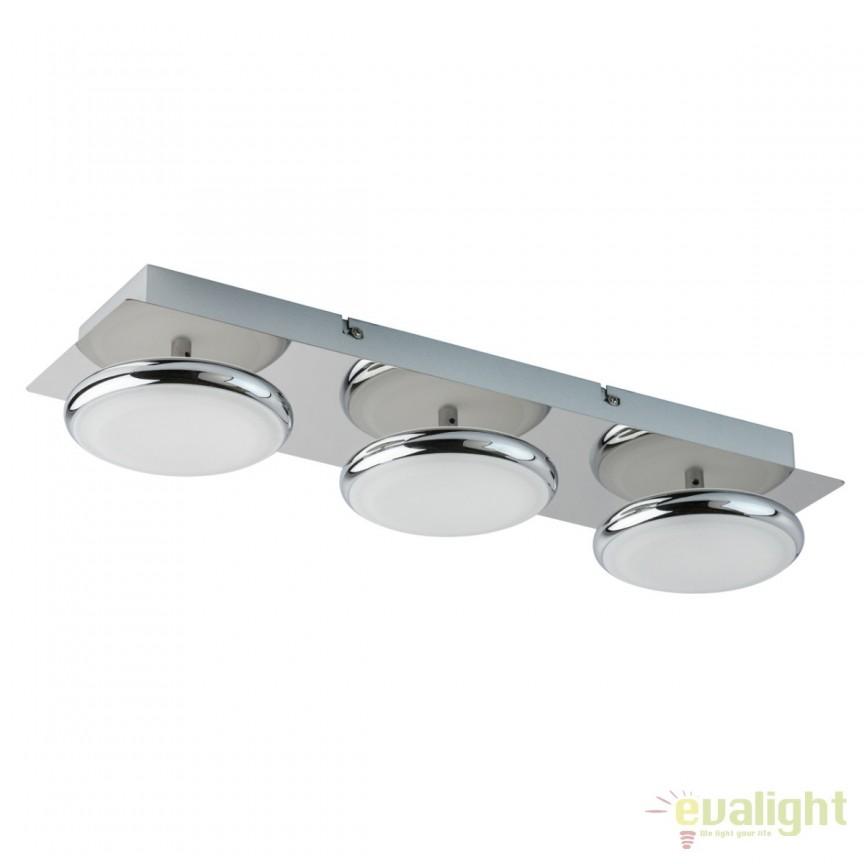 Plafoniera LED moderna Simion 3 706010603 MW, Plafoniere LED, Spoturi LED, Corpuri de iluminat, lustre, aplice, veioze, lampadare, plafoniere. Mobilier si decoratiuni, oglinzi, scaune, fotolii. Oferte speciale iluminat interior si exterior. Livram in toata tara.  a