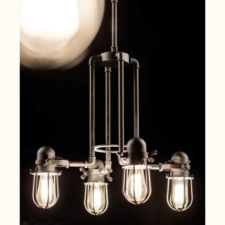 Lustra design industrial din fier forjat HL 2623, Lustre, Candelabre Fier Forjat,  a