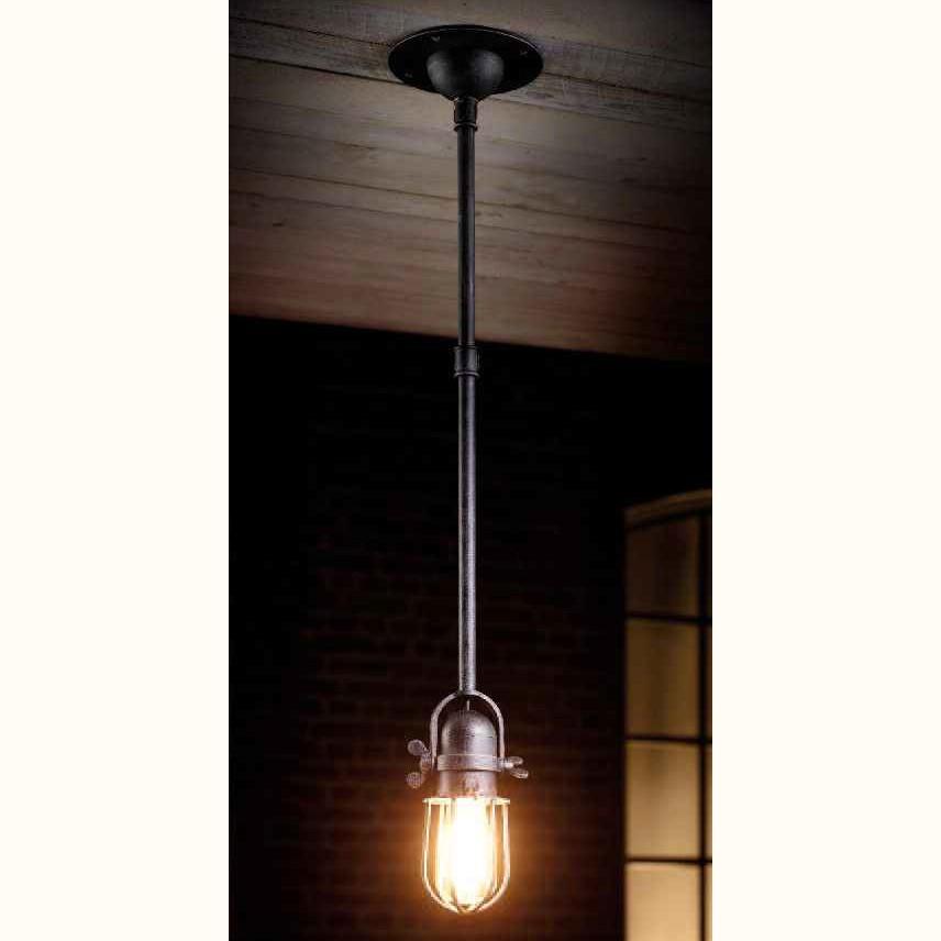 Pendul design industrial din fier forjat HL 2620, Lustre, Candelabre Fier Forjat,  a