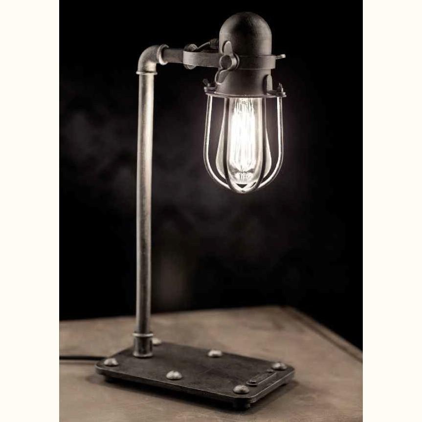 Lampa de masa design industrial din fier forjat TL 4101, ILUMINAT FIER FORJAT DE LUX , Corpuri de iluminat, lustre, aplice, veioze, lampadare, plafoniere. Mobilier si decoratiuni, oglinzi, scaune, fotolii. Oferte speciale iluminat interior si exterior. Livram in toata tara.  a