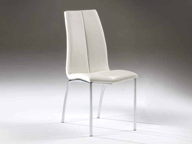 Scaun modern alb, Malibu 654248, Scaune dining , Corpuri de iluminat, lustre, aplice a