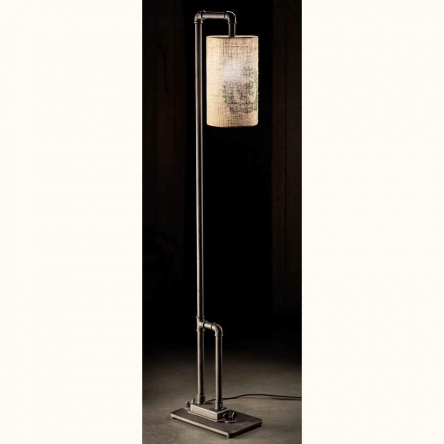 Lampa de podea design industrial din fier forjat SL 106, Veioze, Lampadare Fier Forjat, Corpuri de iluminat, lustre, aplice, veioze, lampadare, plafoniere. Mobilier si decoratiuni, oglinzi, scaune, fotolii. Oferte speciale iluminat interior si exterior. Livram in toata tara.  a
