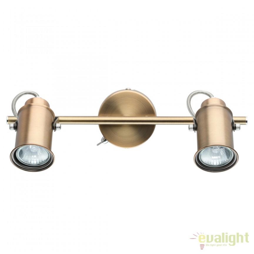 Aplica directionabila stil industrial Walter II 551020402 MW, Spoturi - iluminat - cu 2 spoturi, Corpuri de iluminat, lustre, aplice, veioze, lampadare, plafoniere. Mobilier si decoratiuni, oglinzi, scaune, fotolii. Oferte speciale iluminat interior si exterior. Livram in toata tara.  a