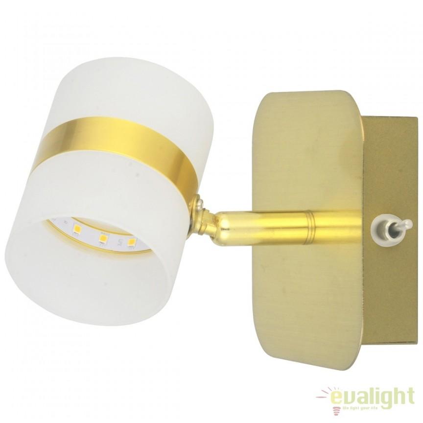 Aplica LED moderna cu spot directionabil Inka 704023301 MW, Spoturi - iluminat - cu 1 spot, Corpuri de iluminat, lustre, aplice, veioze, lampadare, plafoniere. Mobilier si decoratiuni, oglinzi, scaune, fotolii. Oferte speciale iluminat interior si exterior. Livram in toata tara.  a