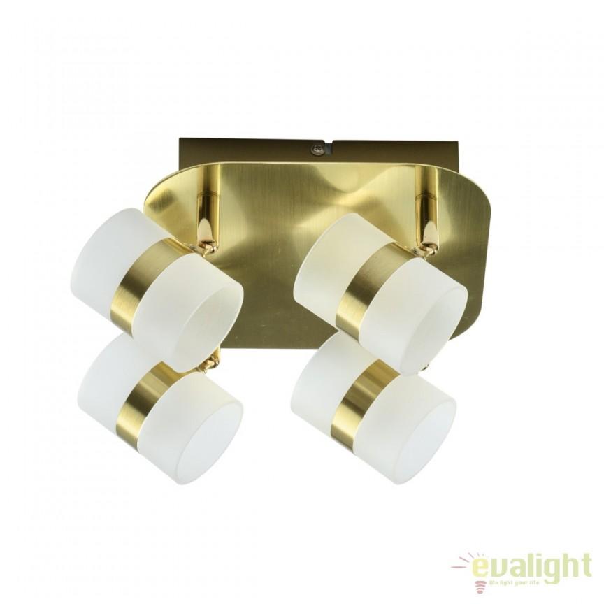 Plafoniera LED moderna cu spoturi directionabile Inka 4L 704010704 MW, Plafoniere LED, Spoturi LED, Corpuri de iluminat, lustre, aplice, veioze, lampadare, plafoniere. Mobilier si decoratiuni, oglinzi, scaune, fotolii. Oferte speciale iluminat interior si exterior. Livram in toata tara.  a