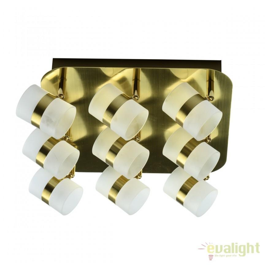 Plafoniera LED moderna cu spoturi directionabile Inka 9L 704010909 MW, Plafoniere LED, Spoturi LED, Corpuri de iluminat, lustre, aplice, veioze, lampadare, plafoniere. Mobilier si decoratiuni, oglinzi, scaune, fotolii. Oferte speciale iluminat interior si exterior. Livram in toata tara.  a