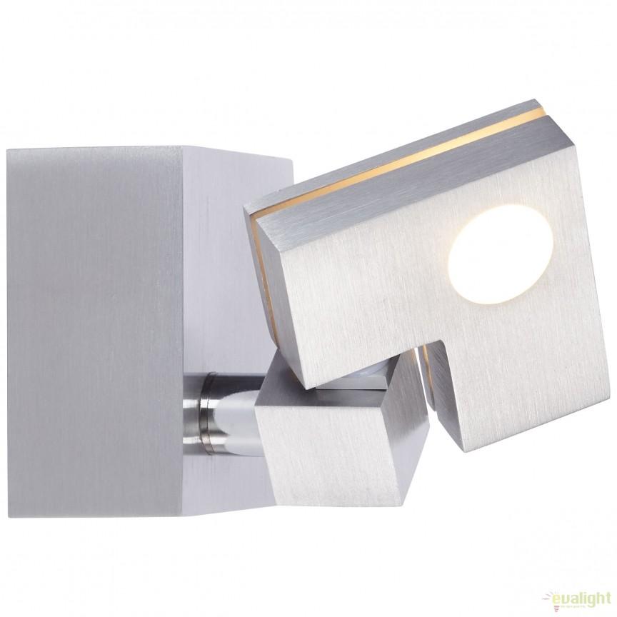 Aplica de perete LED moderna cu spot directionabil DEGREE 90 G72510/21 BL, Spoturi - iluminat - cu 1 spot, Corpuri de iluminat, lustre, aplice, veioze, lampadare, plafoniere. Mobilier si decoratiuni, oglinzi, scaune, fotolii. Oferte speciale iluminat interior si exterior. Livram in toata tara.  a