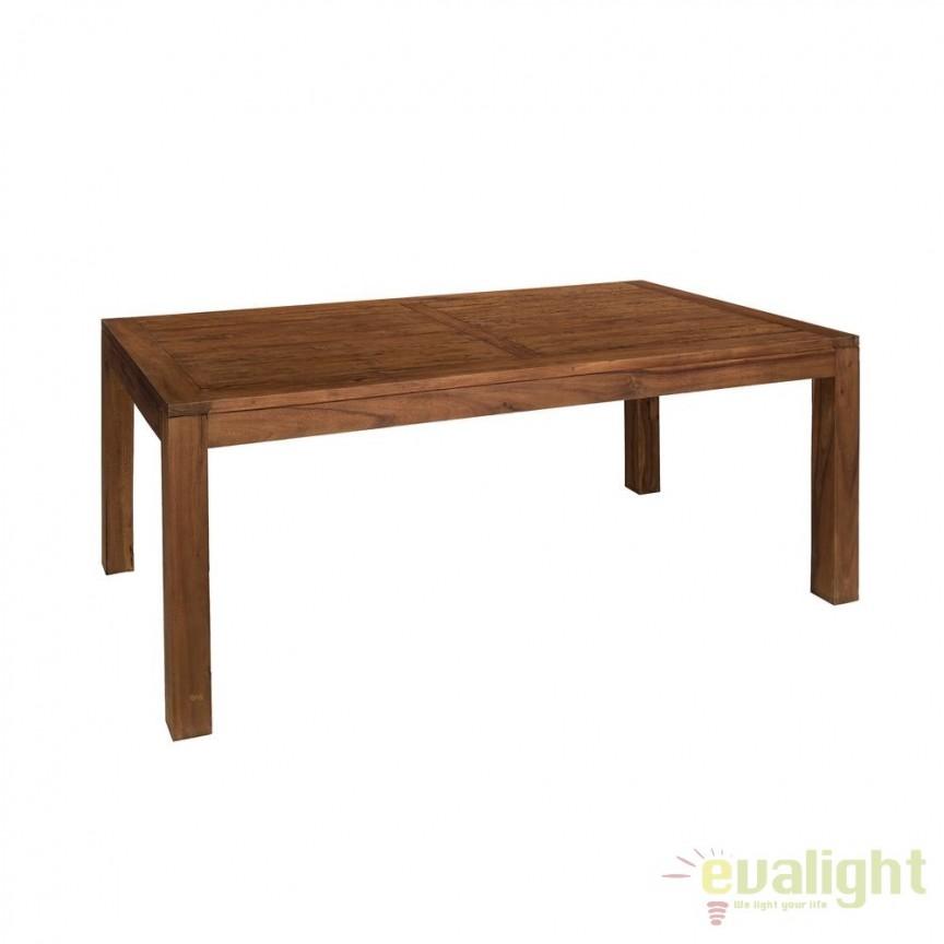 Masa din lemn design rustic-vintage Simply, 200x100cm SX-120495, Mese dining, Corpuri de iluminat, lustre, aplice, veioze, lampadare, plafoniere. Mobilier si decoratiuni, oglinzi, scaune, fotolii. Oferte speciale iluminat interior si exterior. Livram in toata tara.  a