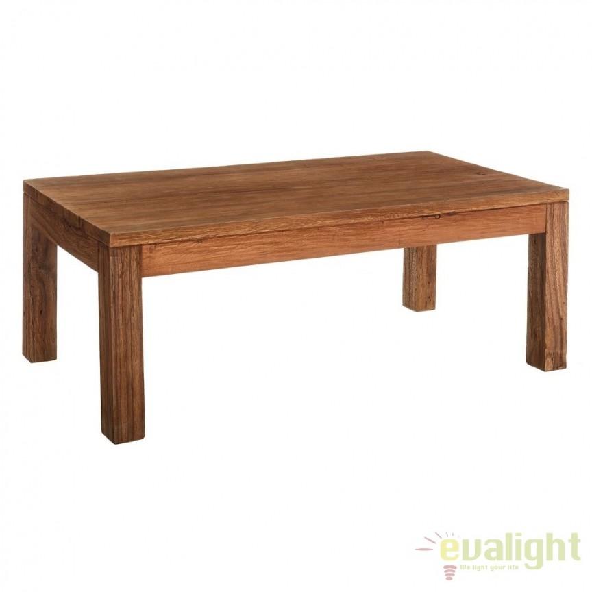 Masuta din lemn design rustic-vintage Simply, 140x70cm SX-120498, PROMOTII, Corpuri de iluminat, lustre, aplice, veioze, lampadare, plafoniere. Mobilier si decoratiuni, oglinzi, scaune, fotolii. Oferte speciale iluminat interior si exterior. Livram in toata tara.  a