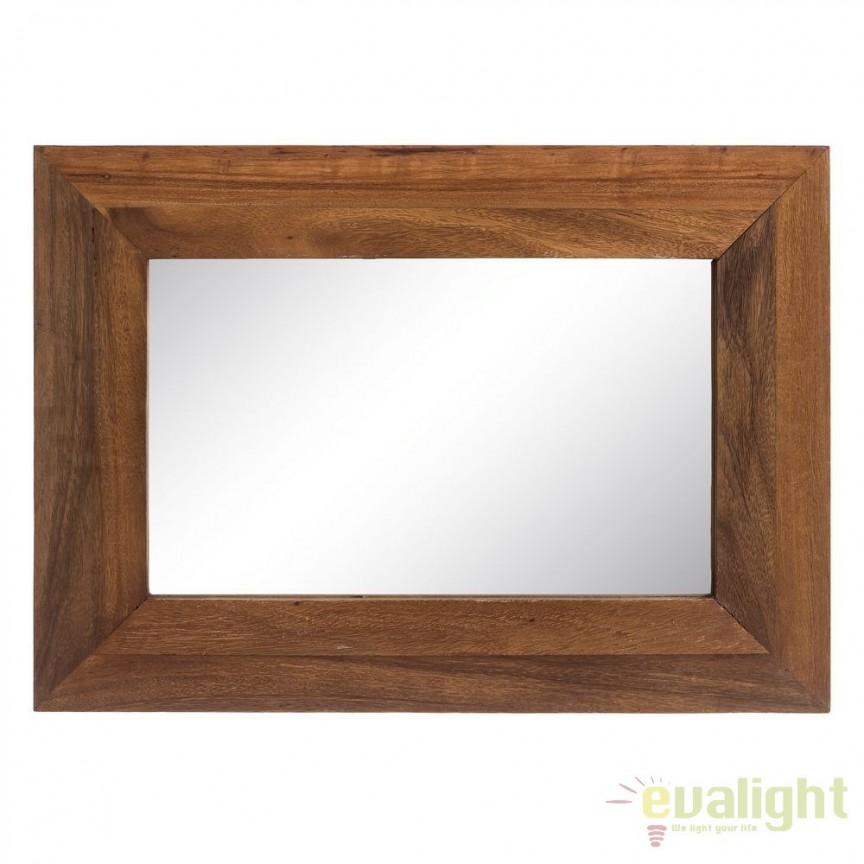 Oglinda cu lemn design rustic-vintage Simply, 50x70cm SX-120502, Oglinzi decorative, Corpuri de iluminat, lustre, aplice, veioze, lampadare, plafoniere. Mobilier si decoratiuni, oglinzi, scaune, fotolii. Oferte speciale iluminat interior si exterior. Livram in toata tara.  a