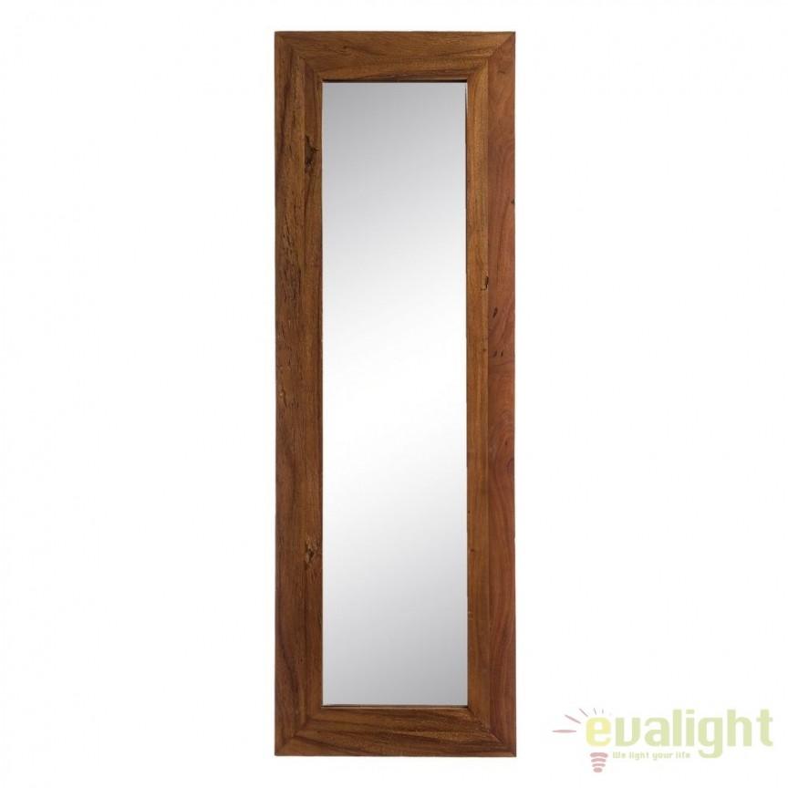 Oglinda cu lemn design rustic-vintage Simply, 50x150cm SX-120503, Oglinzi decorative, Corpuri de iluminat, lustre, aplice, veioze, lampadare, plafoniere. Mobilier si decoratiuni, oglinzi, scaune, fotolii. Oferte speciale iluminat interior si exterior. Livram in toata tara.  a