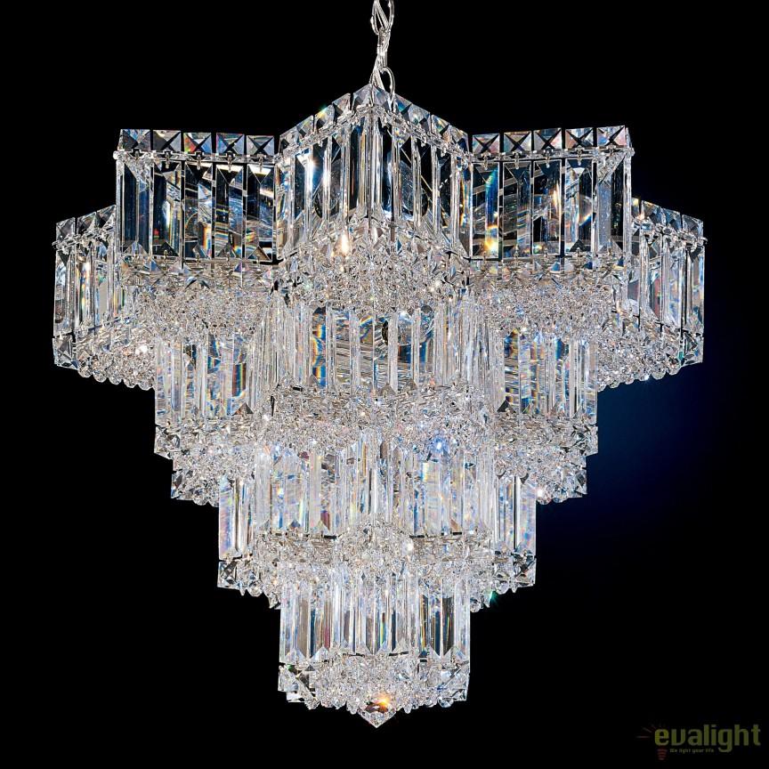 Lustra eleganta design LUX Crystal Gemcut, Equinoxe 2714, Lustre Cristal Schonbek , Corpuri de iluminat, lustre, aplice, veioze, lampadare, plafoniere. Mobilier si decoratiuni, oglinzi, scaune, fotolii. Oferte speciale iluminat interior si exterior. Livram in toata tara.  a