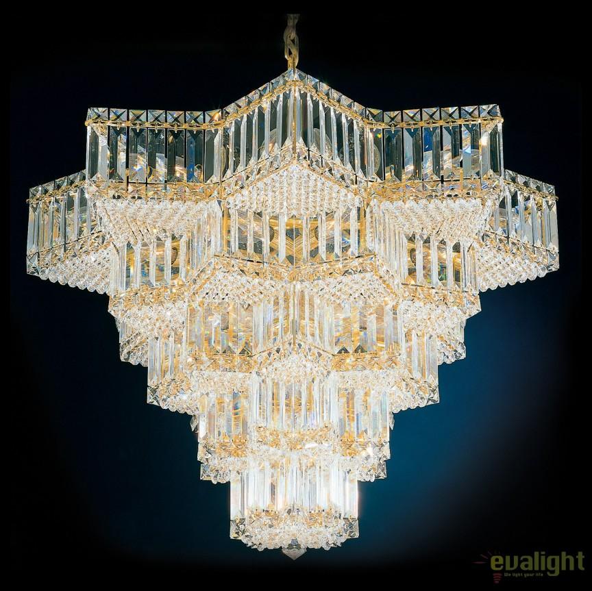 Lustra eleganta design LUX Crystal Gemcut, Equinoxe 2716, Lustre Cristal Schonbek , Corpuri de iluminat, lustre, aplice, veioze, lampadare, plafoniere. Mobilier si decoratiuni, oglinzi, scaune, fotolii. Oferte speciale iluminat interior si exterior. Livram in toata tara.  a